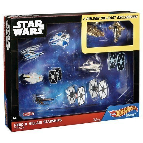 Hot Wheels Star Wars Hero & Villians Starships - 11 Pack wit