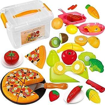 Amazon.com: FUNERICA Cutting Play Fruit Toys Set ...