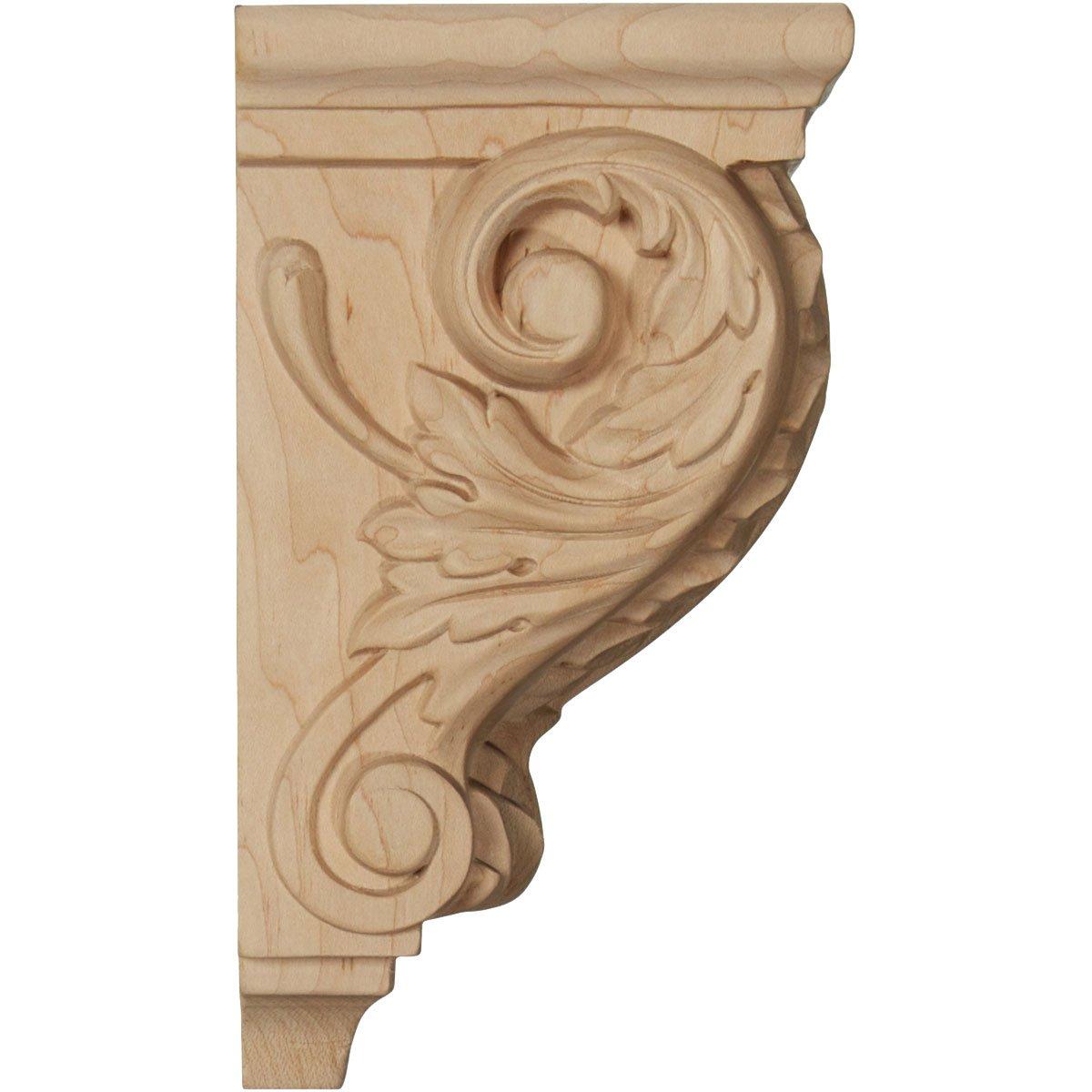 Ekena CORW03X04X07ACMA 3 1//2 W x 4 D x 7 H Small Acanthus Wood Corbel Maple