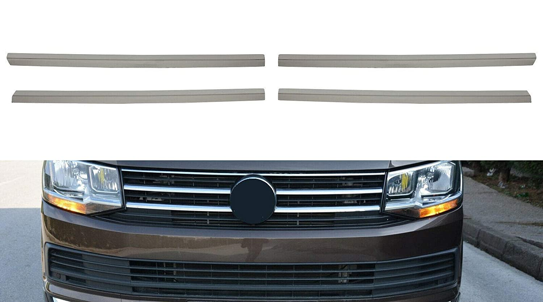 4 piezas para Transporter T6 a partir de 2015 Listones cromados de acero inoxidable para parrilla de radiador