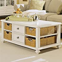 American Drew Camden Rectangular Coffee Table with Storage in Buttermilk