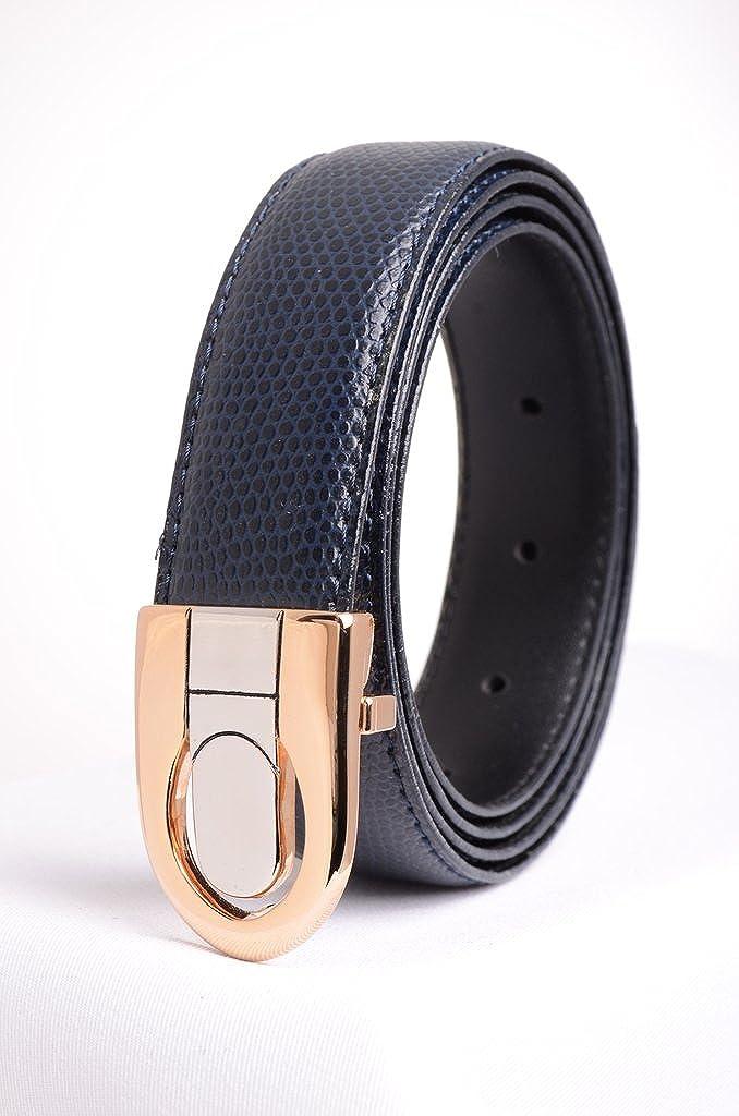 Mens Leather Dress Belt Lizard Print A.P.L