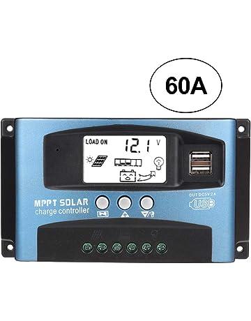 Capteur de Temp/érature SolaMr MPPT 20A R/égulateur de Charge Solaire 12V//24V//48V Contr/ôleur de Charge de Batterie de Panneau Solaire Intelligent avec /Écran LCD Interface RS485-20A