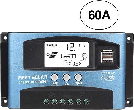 Regolatore di carica solare 40A 60A//50A//40A//30A//20A//10A 12V 24V Regolatore di carica automatico PWM