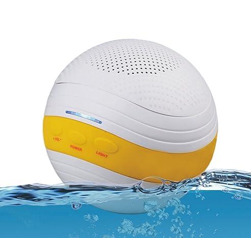 Floating Speaker Mit Bluetooth Für Pool IPX7 Wasserdichte Bluetooth  Wireless Subwoofer Lautsprecher Für Bad Strand Küche