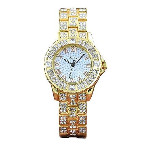 Scpink Reloj de Cuarzo de la muñeca del Vestido de Lujo de la Manera de los Relojes de la Manera con los Relojes análogos del Cuarzo del Diamante de la ...