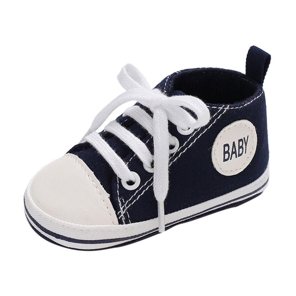 SOMESUN Baby Jungen Mädchen Lauflernschuhe Neugeborenes Klassisch Krippe Schuhe Atmungsaktiv Weiche Rutschfest Sohle Segeltuchschuhe Beiläufig Freizeit Espadrilles