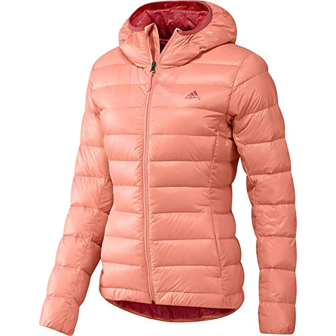 0ea7ce8d7 Amazon.com: adidas Outdoor Women's Light Down Hooded Jacket: Clothing