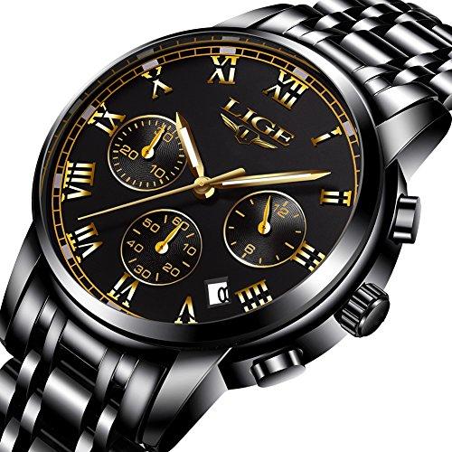 WatchMens Fashion Luxury Chronograph Sports WatchesWaterproof Analog Quartz Wrist Watch