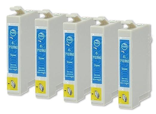 5 opinioni per 5 Cartucce Per Stampanti compatibile con Epson T0712 (Ciano)