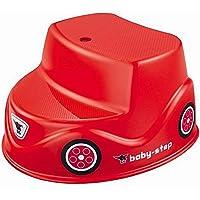 BIG Baby-Step – halkfri röd barnspall, stegpall av plast med 2 nivåer för spädbarn och småbarn från 18 m och äldre, upp…
