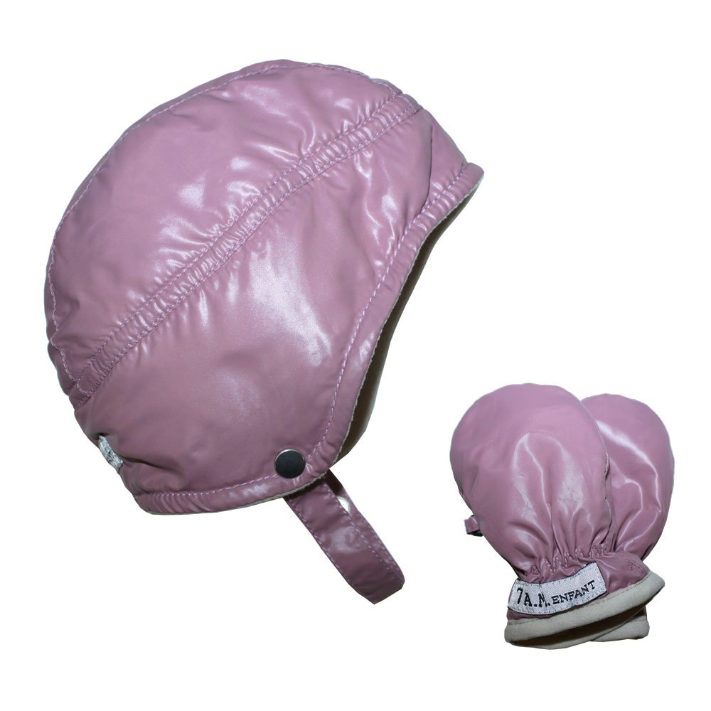 7AM Enfant Infant Mittens and Hat Set, Lilac, Small