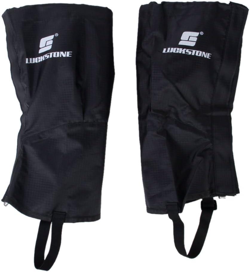 1 Pair Waterproof Hiking Climbing Legging Gaiters Leg Cover Sleeve Black S