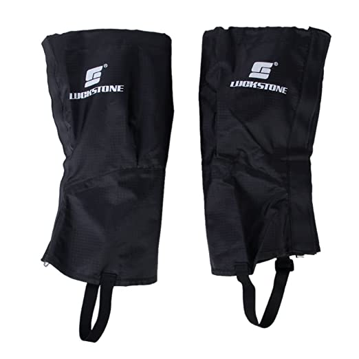1 Par Impermeables Leggins Polainas Cubre Piernas Senderismo Escalada Nieve Largo Tamaño (Negro): Amazon.es: Deportes y aire libre