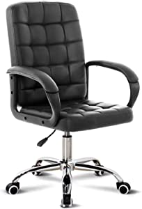 HTL Comfortable Lift Swivel Chair Office Chair Can Reduce Back Pain Air Lift Chair Height Can Adjustment and Lock Kneeling Chair,Black