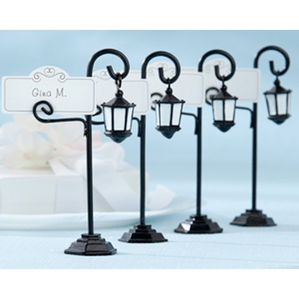 Chris-Wang 12Pcs European Style Street Lamp Light Place Card Holder/Table Number Clip/Memo Display Clamp(4 1/4-inch)