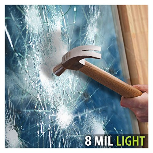 BDF S8MB50 WIndow Film Security and Safety 8 Mil Black 50 (Light) - 24in X 12ft (Tint Security)