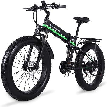 Shengmilo 1000W Grasa Bicicleta de Montaña Eléctrica 26inch E-Bike 48V 13Ah