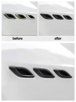 for Maserati Ghibli 2014 2015 2016 2017 2018 2019 2020 Carbon Fiber Side Air Vent Fender Cover Trim Car Exterior Accessories 6PC//Pack Upgrade Body Fitting