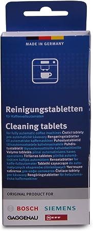 Bosch 00311969 - Pastillas de limpieza para cafetera y termo (10 unidades): Amazon.es: Hogar