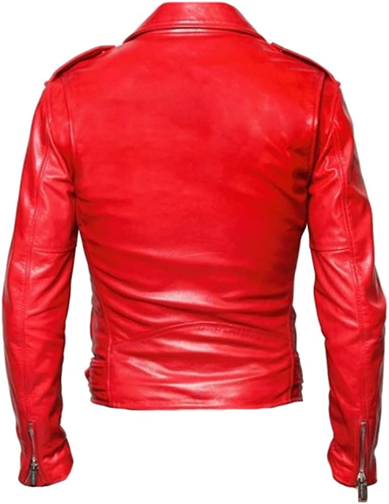 SleekHides Womens Fashion Leather Brando Style Jacket