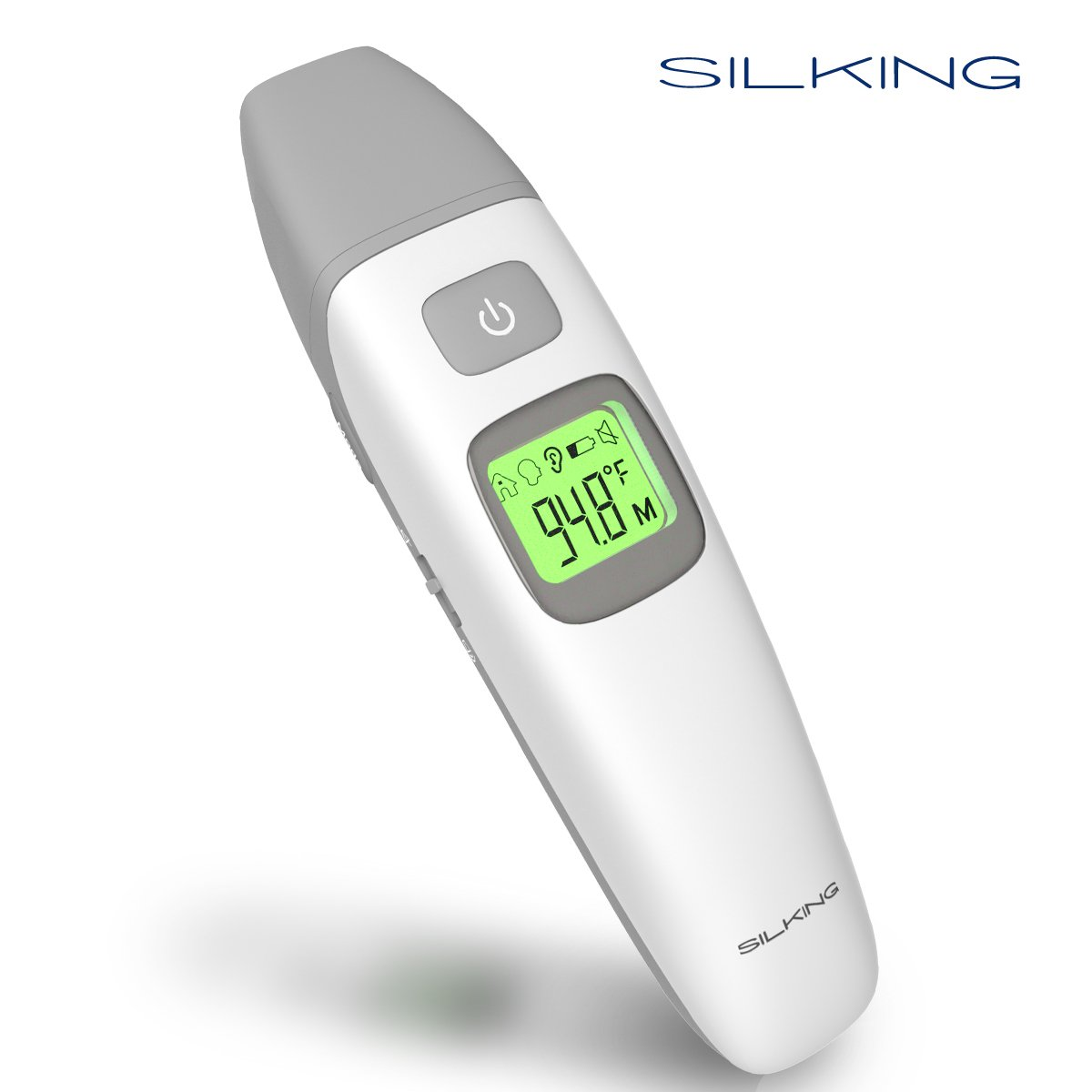 SILKING Digital Forehead and Ear Baby Thermometer for Fever, Ambient Mode, Medical Infrared Smart Thermometer, for Infant, Toddler, or Adult, FDA and CE approved, Fast-reading,LCD display backlight