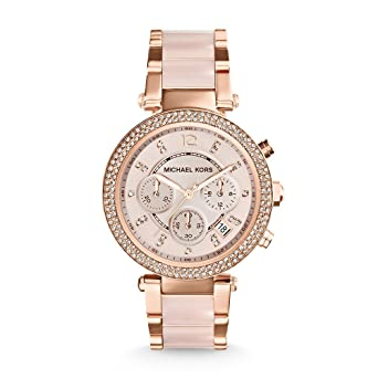 f24328c5bdf25 Image Unavailable. Image not available for. Color  Michael Kors Women s  Parker Two-Tone Watch MK5896
