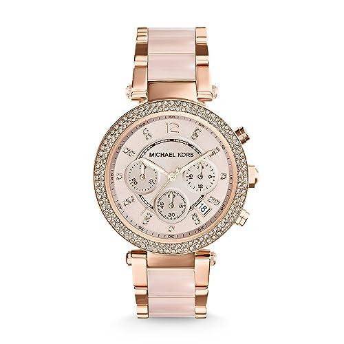 5ea3c6b13a24 Michael Kors Reloj analogico para Mujer de Cuarzo con Correa en Acero  Inoxidable MK5896  Michael Kors  Amazon.es  Relojes