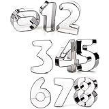 Kanggest 3D Moldes de Galletas 9pcs cortador de galletas de acero inoxidable Molde de pastel con formas de árabe…