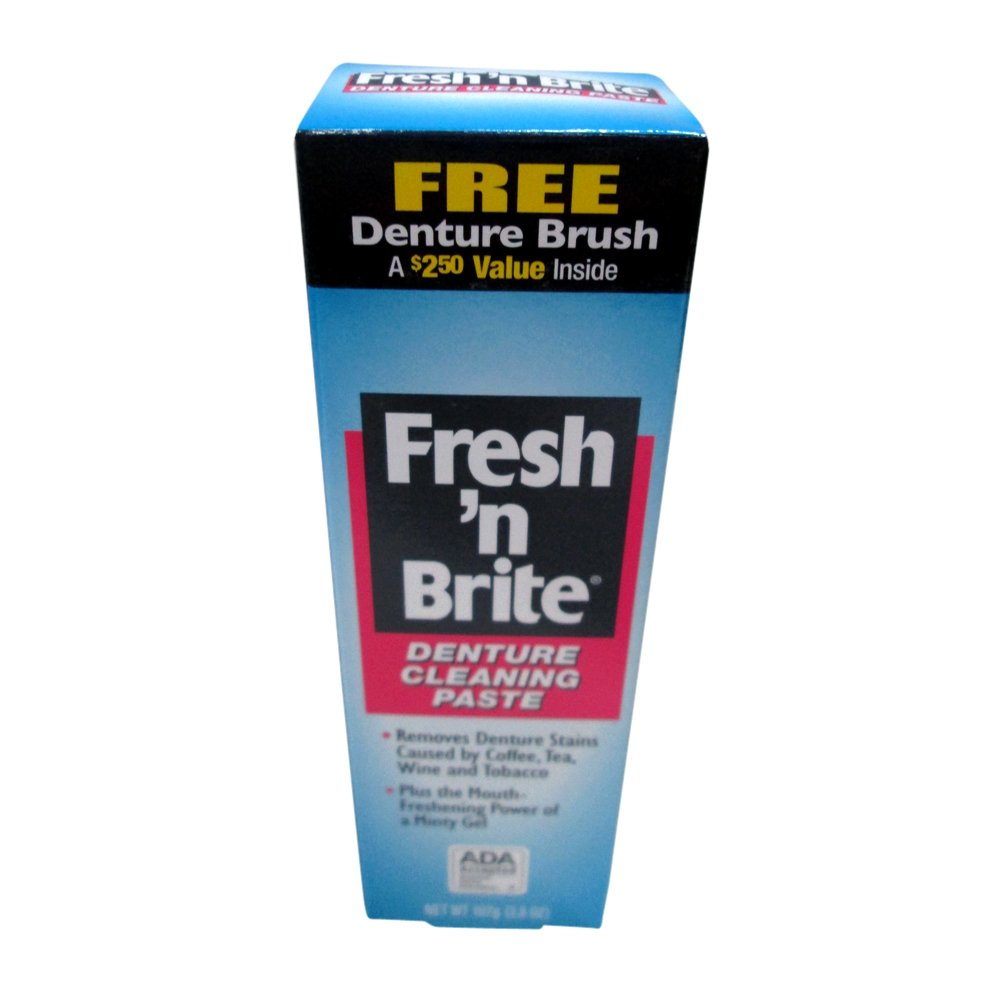 Fresh 'n Brite Denture Cleaning Paste, 3.8 Ounce (Pack of 2)