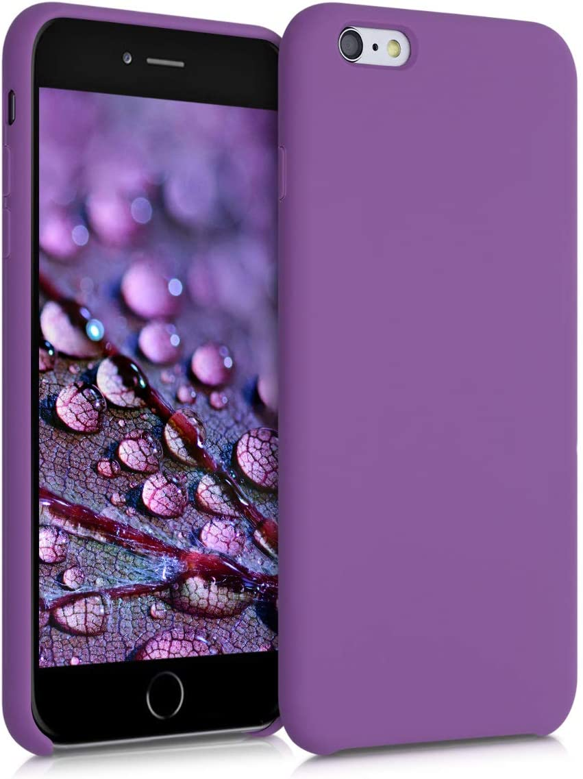 kwmobile TPU Silicone Case Compatible with Apple iPhone 6 Plus / 6S Plus - Case Slim Protective Phone Cover with Soft Finish - Pastel Purple