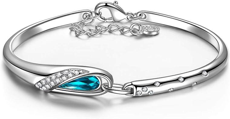 Filles Femmes Saint Valentin Cadeau Bijoux en Alliage de Zinc bracelet jonc