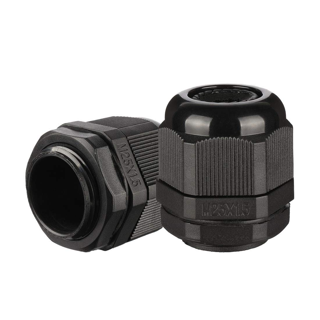 uxcell 20 Pcs M25 Waterproof IP68 Nylon Cable Gland Joint Adjustable Locknut for 13mm-18mm Dia Cable Wire