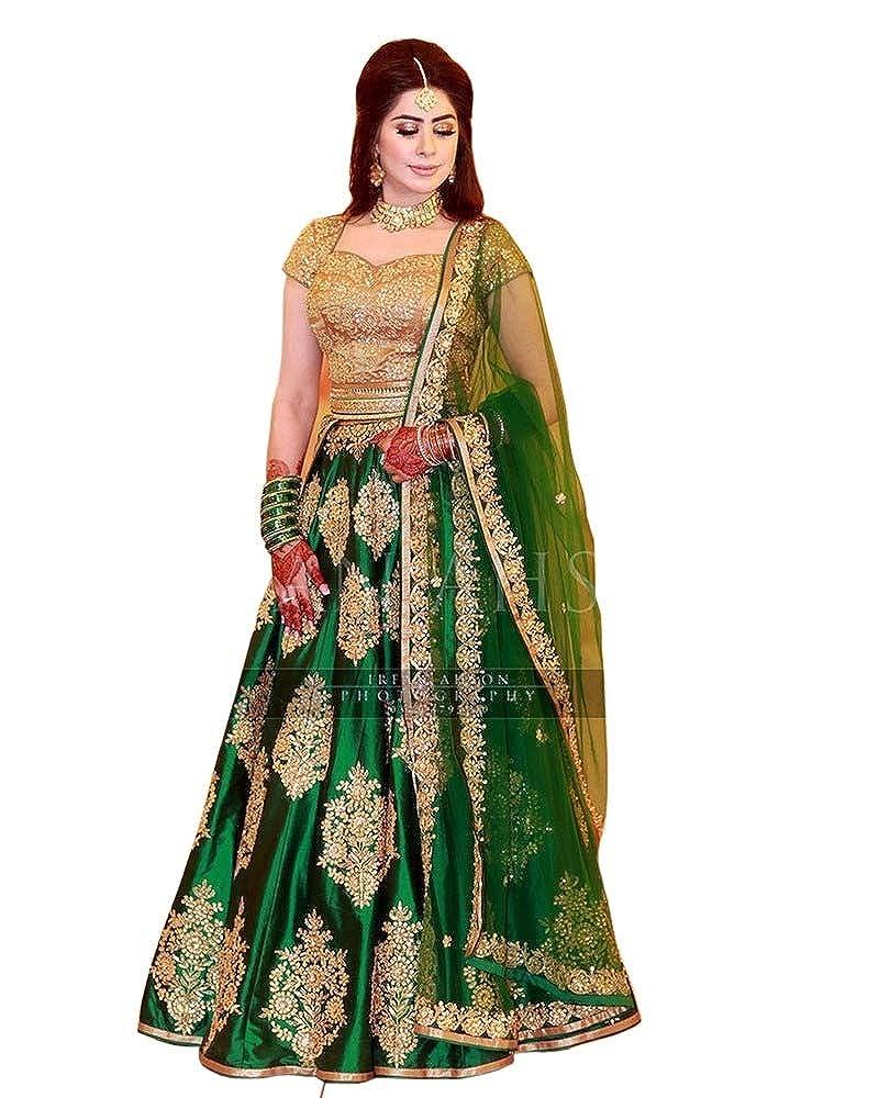 Blue Silk Lehenga Choli Designer Bollywood Indian Party Wear Weddding Lengha New India & Pakistan Clothing, Shoes & Accessories