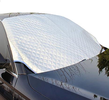 /ét/é) La Neige(Hiver Couverture Pare-Brise Voiture,Brise Pare-Brise Voiture Repliable Bache De Protection Pour Anti UV Le Givre Le Gel La Glace