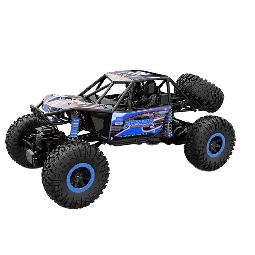 Pinjeer 1:12子供の大型おもちゃの車充電ワイヤレスリモートコントロールカーオフロード車四輪駆動クライミングカービッグカーボーイギフト用キッズ5+ (Color : Red) B07QWRTN9J Blue  Blue