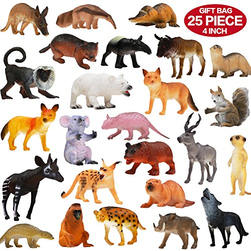 Animals & Dinosaurs Animals Figure54 Piece Mini Jungle Animals Toys Set With Gift Box Realistic Wild Making Things Convenient For Customers