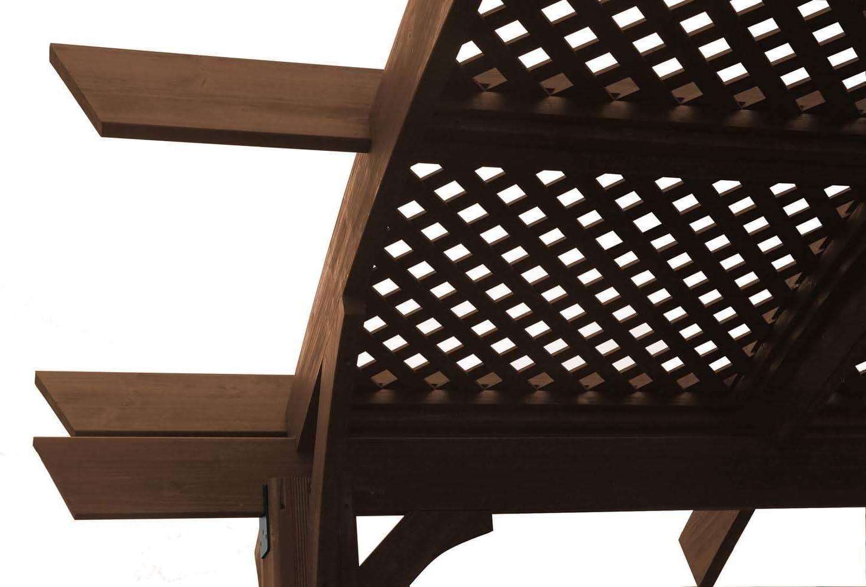 Al aire libre empresa GreatRoom Sonoma 12 x 10 Pergola Entramado, juego de 1, marrón: Amazon.es: Jardín