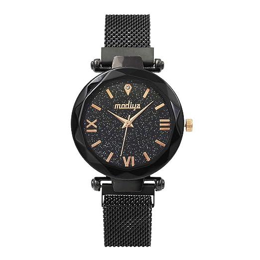 Reloj De Dama,Woman Watch,Quartz Mesh with Magnetic Buckle Watch,Relojes De Mujer,Relojes De Hombres: Amazon.es: Relojes
