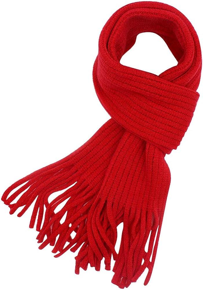 Baby Kids Knitted Winter Scarf Tassel Soft Warm Neck Warm Wrap for Boys Girls