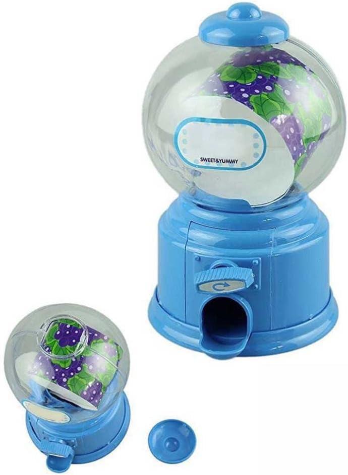 Sannysis® Doble Bubble Gum máquina banco dispensador de Candy juguete de Gumball Máquina de algodón Candy máquina Candy máquina expendedora Rock Candy Chocolate japonés rígida de plástico Candy máquina 14 × 8,5