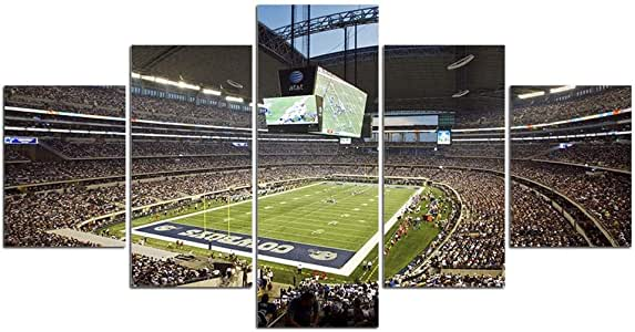 Amazon.com: AT&T Stadium Pictures for Wall Art Paintings 5 ...