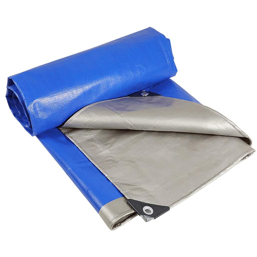 bleu 6X6m Duanguoyan BÂche- BÂche extérieure imperméable d'isolation de Prougeection Solaire de Tissu imperméable Bleu et Argent épais (Couleur   bleu, Taille   4X6m)