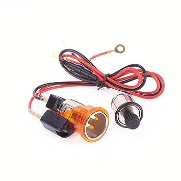 Amazon.com: Iztor 12V Car Orange Cigarette Lighter Power ... on socket outlet wiring, switch outlet wiring, light outlet wiring, power outlet wiring, bulb outlet wiring, wall outlet wiring, electrical outlet wiring, plug outlet wiring, junction box outlet wiring,