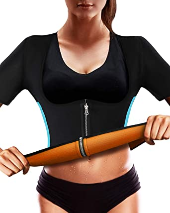 ee3b9f6ed2724 RIBIKA Slimming Body Shapers Women Sauna Suit Neoprene Sweat Vest Waist  Trainer Weight Loss Black