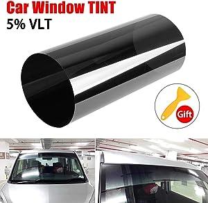GESECRET Car Windscreen Tinted Tint Film UV Block Sun Shade Sticker Front Windshield One-Way Privacy Solar Film 20x150cm