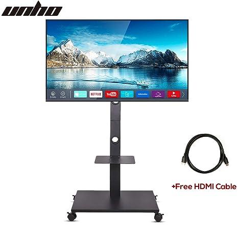 UNHO Soporte Móvil de Suelo para TV LED LCD OLED Plasma de 32-65 Pulgadas