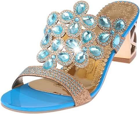 Amazon.com   GIY Womens Fashion Rhinestone Wedges Platform