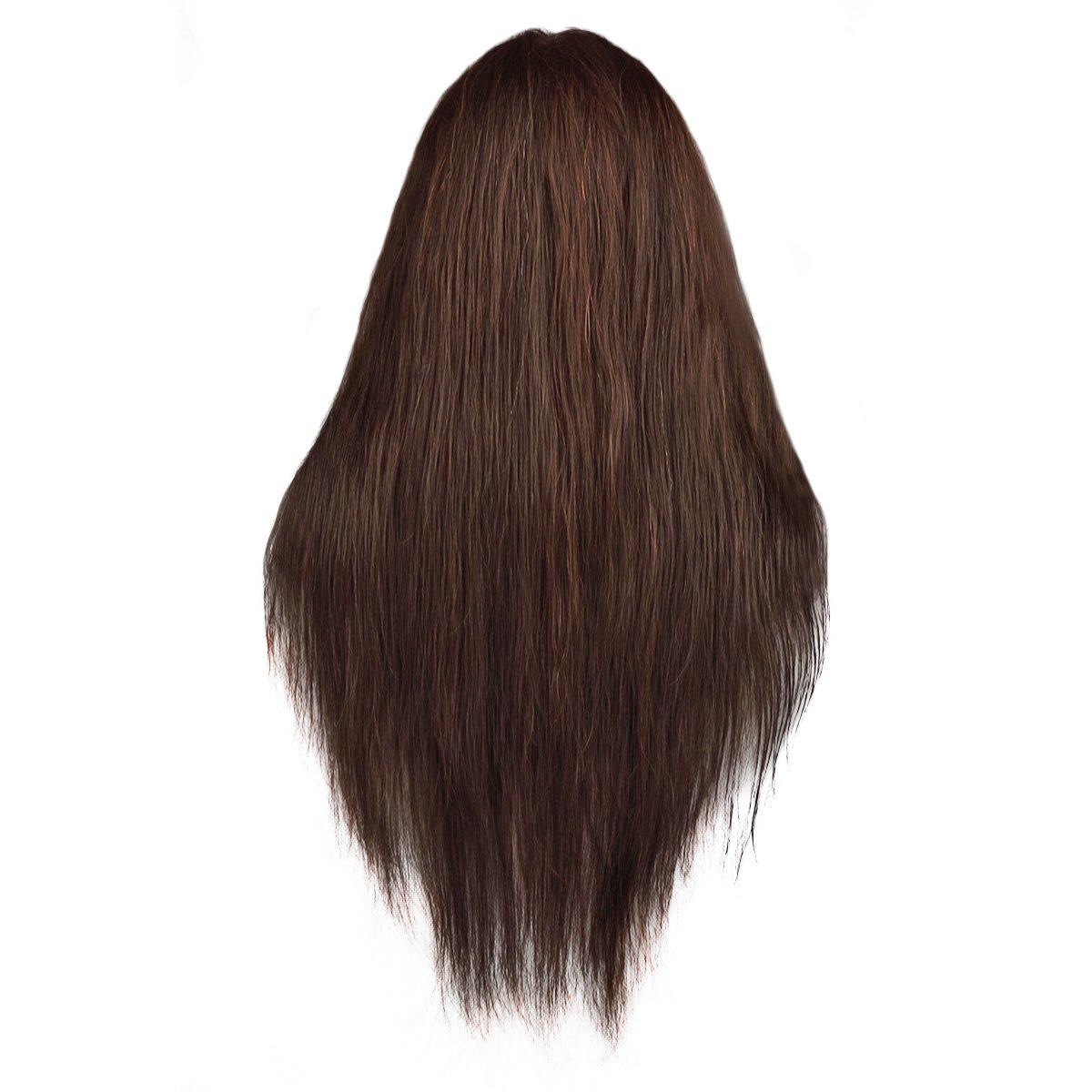 Maniquí de Cabeza para practicas de peluquería con cabello pelo real 90% 56cm (con soporte)-CoastaCloud: Amazon.es: Salud y cuidado personal