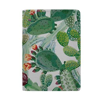 Rich Blue-Green Cactus Blocking Print Estuche de la Funda ...